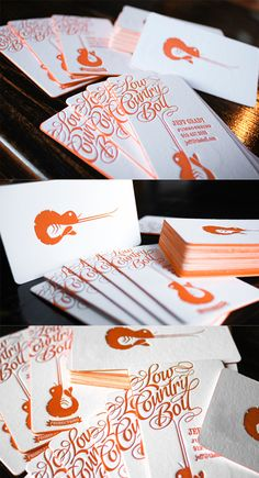 Fantastic Typography And Logo On A Letterpress Edge Painted Business Card