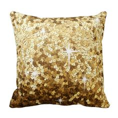 Gold Sequin and Glitter Bling Throw Pillow Glittery, Luxury, Shiny, Sparkle, Gold, Glitter, Metallic, Sparkly, Bling, Modern, Chic, Fancy, Cute, Style, Glamorous, Trendy, Shine, Glamour, Sparkles, Cool, Shimmer, Pattern, Gi...
