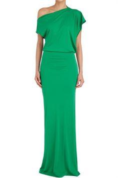 LOve the one off shoulder blouson dress Simple Dresses, Cute Dresses, Beautiful Dresses, Formal Dresses, Dress Outfits, Fashion Dresses, Party Fashion, The Dress, Dress To Impress