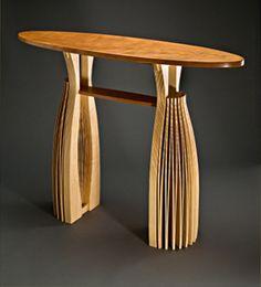 Torii Hall Table: Seth Rolland: Wood Hall Table | Artful Home