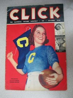 CLICK National Picture Monthly Magazine OCTOBER 1938 Special Football Issue | eBay