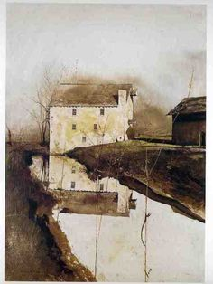 Andrew Wyeth - FLOUR MILL - 24 X 36 Inches