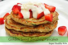 Zucchini pancakes! Delicious combo for healthy kids