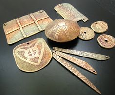 Gail's Tales...and Jewelry Designs: Polishing up the bronze