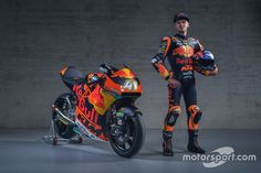 Brad Binder, Red Bull KTM Ajo at KTM Racing launch High-Res Professional Motorsports Photography Red Bull, Motogp Teams, Ktm Factory, Sportbikes, Product Launch, Racing, Red Team, Luxury Lifestyle, Binder