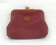 Dooney and Bourke All-Weather Coin Purse in Rouge