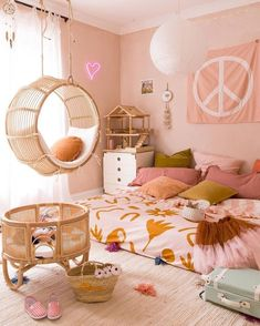 40 Perfect Girls Bedroom Design Ideas in with a beautiful room—the variety of place you can see your long term teenager enjoying—and then focus on introducin Girl Bedroom Designs, Girls Bedroom, Teenage Bedrooms, Decoration Inspiration, Room Inspiration, Interior Inspiration, Decor Ideas, Kids Room Design, Little Girl Rooms