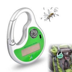 Description : 	This exquisite and durable device is to prevent you and your fanmily from the bite of mosquitos. 	Further more, it can create more fun and safety which comes with a hook and a compass when you take part in outdoor activities. 	In a word, it becomes part of your modern...