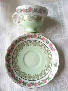Vintage Rosina Tea Cup and Saucer/Cottage