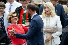 Queen Sonja of Norway, CP Haakon of Norway, CP Mette-Marit of Norway during Silver Jubilee celebrations. June 25 2016