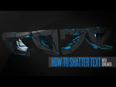 Cinema 4D Tutorial: Shatter/Cracked Text (xBreaker) + Project File - YouTube
