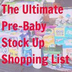 Sweet Orange Fox: Bringing Home Baby Stock-Up Shopping List