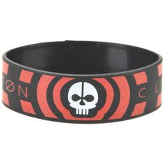 Hot Topic Twenty One Pilots Skeleton Rubber Bracelet ($5.60) ❤ liked on Polyvore featuring jewelry, bracelets, multi, roaring twenties jewelry, skeleton jewelry, 1920s style jewelry, 1920s jewelry and rubber bangles