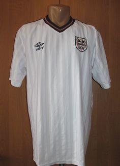 7b257f6042d England 1984 1985 1986 home retro replica football shirt by Umbro vintage  retro 80s
