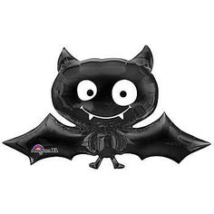 Our Black Bat Mylar Balloon looks like a black bat with a smiling face. Each Black Bat Balloon measures 41 inches long and made of mylar.