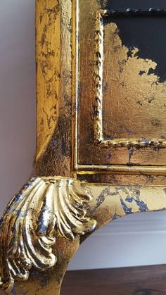 This Gorgeous, French style chest of drawers is both elegant as well as beautiful detailed. It has been painted in Fusion Mineral Paint- Coal Black and decorated with gold leafs. Inside the drawers beautiful floral wallpaper has been added. All have been varnished for protection