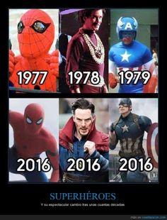 El cambio de imagen de los superhéroes - Y su espectacular cambio tras unas cuantas décadas