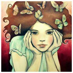 Art prints & original Paintings by Claudia Tremblay by claudiatremblay Claudia Tremblay, Art Amour, Art Visage, Posters Vintage, Inspiration Art, Arte Pop, Face Art, Oeuvre D'art, Mixed Media Art