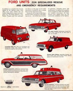 1962 Ford professional vehicles
