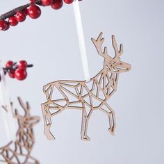 Geometric Reindeer Christmas Decoration