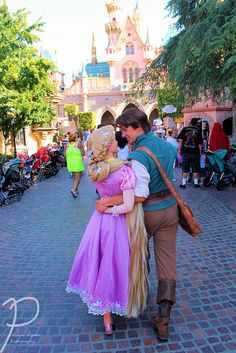 Rapunzel and Flynn Rider Face Characters