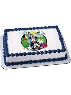 Mickey Mouse Quarter Sheet Edible Cake Topper (Each) - Party Supplies by DecoPac -- Awesome products selected by Anna Churchill