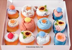 Cupcakes de ropa de bebe
