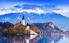 5 Pueblos que parecen sacados de cuentos Disney - Bled en Eslovenia