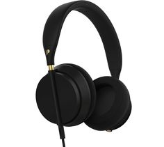 Fancy | Plugged Crown Series Black/Gold Headphones by Plugged Audio