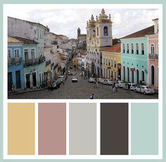 Bathroom-color palette