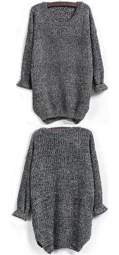 9e848ca24e60f Irregular Long Sleeve Dovetail Sweater
