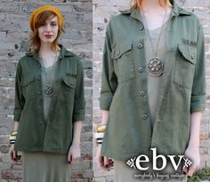#Vintage #Camo #Military #Army #Green #Shirt #Jacket S M L by shopEBV, $48.00
