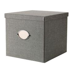 IKEA KVARNVIK Box with lid Grey 32x35x30 cm Perfect for newspapers, photos or other memorabilia.