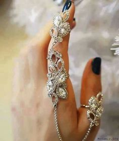 Beautiful chain attached ring