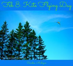 Here's a memory from one of our past vacations in the Upper Peninsula of Michigan. I thought of kite-flying today even before I realized that that's what today is. It was very windy here this morning, and that's what brought kites to mind. Do you have a kite-flying story to share?