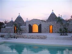 Trulli at twilight