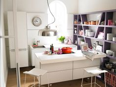 This kitchen is small but so cool.