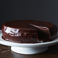 Sam's Favorite Chocolate Cake recipe: Not too sweet and lusciously moist. #food52