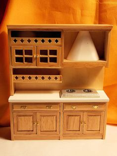 Doll House Kitchen Cabinets & Stove  Dollhouse by Louisianaminis, $24.95