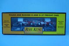 #MTH #OScale 30-7624 Rail King Flatcar with Ertl '64 #Corvettes; 1990s  #RailKing #modelTrains
