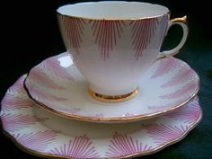 Royal Vale tea trio cup saucer plate 1950's +