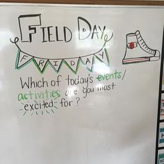 Rain stay away, our JH Saints and teachers NEED field day… Journal Topics, Journal Prompts, Writing Prompts, Journals, Days Of The Week Activities, Morning Activities, Morning Board, Bell Work, Responsive Classroom