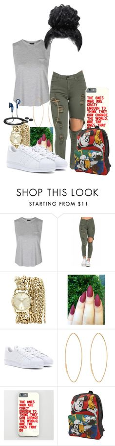 """""""2 Many Followers But Y'all Don't Like Nothing"""" by expressivexox ❤ liked on Polyvore featuring Topshop, Anne Klein, adidas Originals, Lana, Vans, Sennheiser, women's clothing, women, female and woman"""