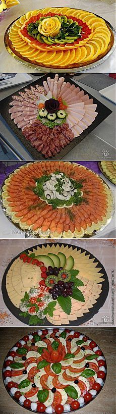 Ideas meat platter presentation cold cuts for 2020 Fruit Decoration For Party, Fruit Decorations, Food Decoration, Meat Platter, Food Carving, Vegetable Carving, Veggie Tray, Catering Food, Food Displays