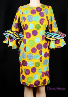 African print dress African dress African clothing Ankara