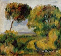 Pierre Auguste Renoir Breton Landscape - Trees And Moor oil painting reproductions for sale