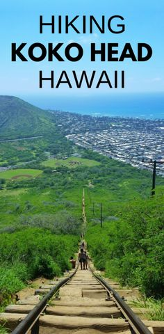 Koko Head Hike, crater railway trail. Best Oahu hikes: US hiking trails in Hawaii, tons of hikes on Oahu for Hawaii vacation! Doing best hiking trails on Oahu also gives you other things to do with nearby beaches for swimming, snorkeling! List of planning tips for when in Waikiki or Honolulu and take bus or with rental car to other trails. Outdoor travel destinations for bucket list for budget adventures! Put outfits on list of what to pack, what to wear for Hawaii packing list... #hawaii…