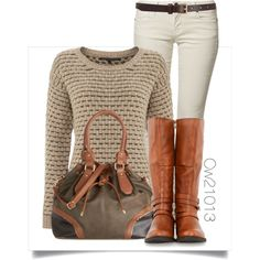 A fashion look from October 2014 featuring Silvian Heach sweaters, CIMARRON jeans and Steve Madden boots. Browse and shop related looks.
