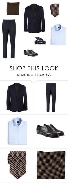 """Men's Sartorial Summer Dressing #1"" by blackcouk ❤ liked on Polyvore featuring AMI, COS, Eidos, Bottega Veneta, menswear, accessories and suiting"