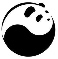 perhaps for a round rock Panda Love, Cute Panda, Yin Yang, Pete Rock, Panda Art, Animal Symbolism, Art Clipart, Animal Logo, Tai Chi